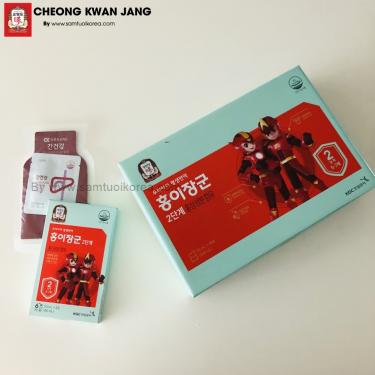Nước hồng sâm trẻ em Cheong Kwan Jang số 2 20ml x 30 gói - 홍이장군 2단계 20ml*30포 (30일분)